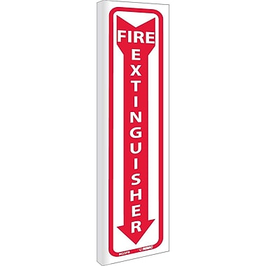 Fire Extinguisher (Dbl Faced Flanged), 18X4, Rigid Plastic
