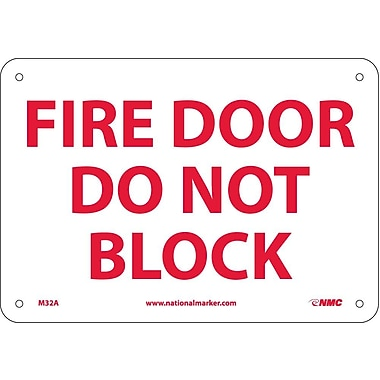 Fire Door Do Not Black, 7X10, .040 Aluminum