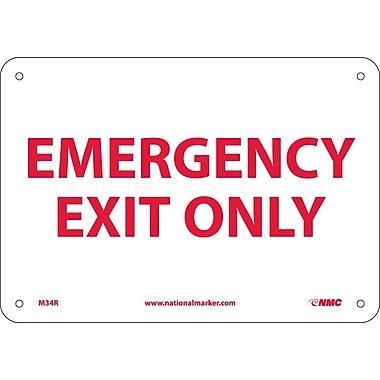 Emergency Exit Only, 7X10, Rigid Plastic