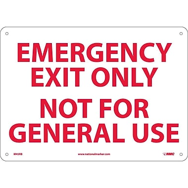 Emergency Exit Only Not for General Use, 10