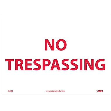 No Trespassing, 10X14, Adhesive Vinyl