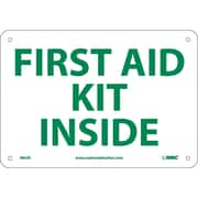 First Aid Kit Inside, 7X10, Rigid Plastic