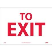 To Exit, 10X14, Adhesive Vinyl
