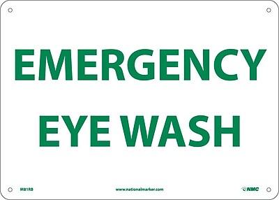 Emergency Eye Wash, 10X14, Rigid Plastic 550755
