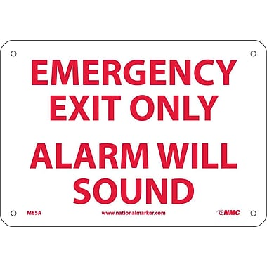 Emergency Exit Only Alarm Will Sound, 7