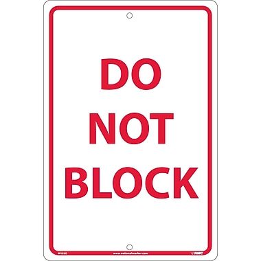 Do Not Block, Red On White, 18