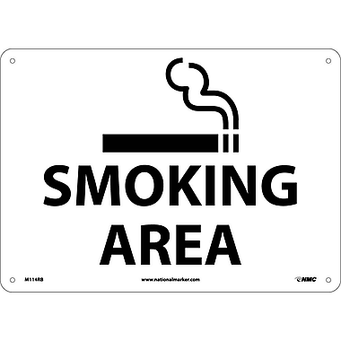 Smoking Area, Graphic, 10X14, Rigid Plastic
