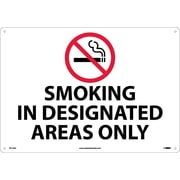Smoking In Designated Areas Only, Graphic, 14X20, .040 Aluminum
