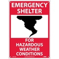 Emergency Shelter For Hazardous Weather Conditions, Graphic, 14X10, .040 Aluminum