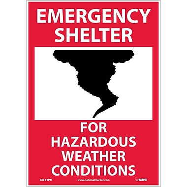 Emergency Shelter For Hazardous Weather Conditions, Graphic, 14X10, Adhesive Vinyl