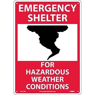 Emergency Shelter For Hazardous Weather Conditions, Graphic, 14X10, Rigid Plastic