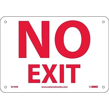 Fire, No Exit, 7X10, Rigid Plastic
