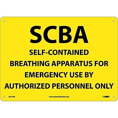 Scba Self-Contained Breathing Apparatus, 10X14, Rigid Plastic