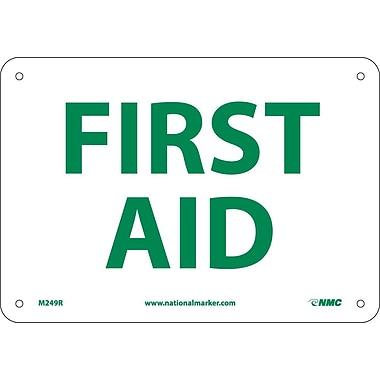 First Aid, 7X10, Rigid Plastic