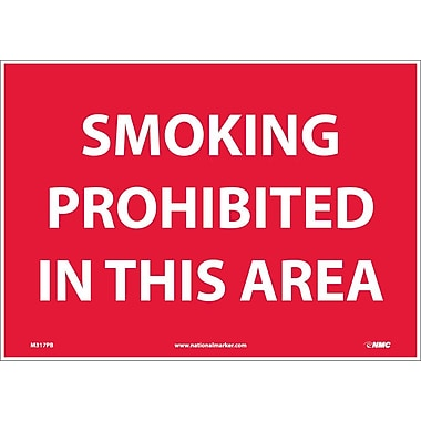 Smoking Prohibited In This Area, 10