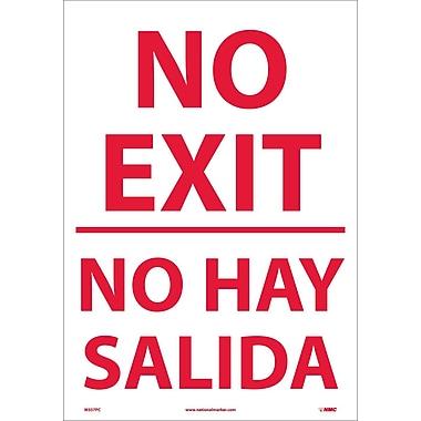 No Exit (Bilingual), 20X14, Adhesive Vinyl