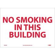 No Smoking In This Building, 10X14, Adhesive Vinyl