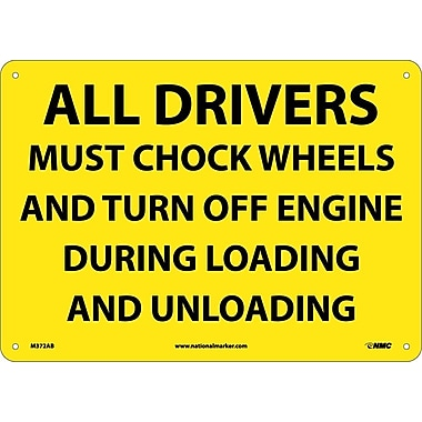 All Drivers Must Chock Wheels And Turn Off..., 10