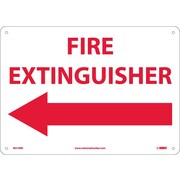 Fire Extinguisher (With Left Arrow), 10X14, Rigid Plastic