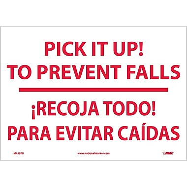 Pick It Up! To Prevent Falls Recoja Todo (Bilingual), 10X14, Adhesive Vinyl