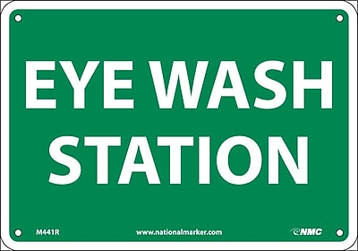 Eye Wash Station, 7X10, Rigid Plastic 553820