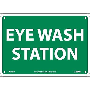 Eye Wash Station, 7X10, Rigid Plastic