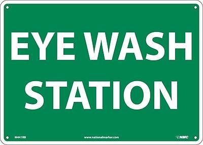 Eye Wash Station, 10X14, Rigid Plastic 548594