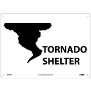 Tornado Sign (W/Graphic), 10X14, Rigid Plastic