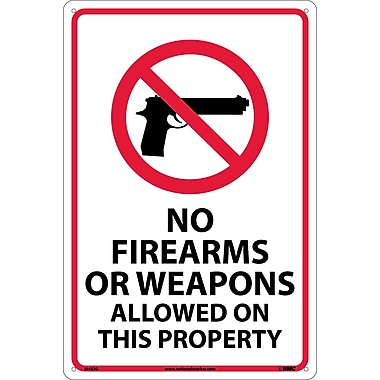 No Firearms Or Weapons Allowed On This Property, 18