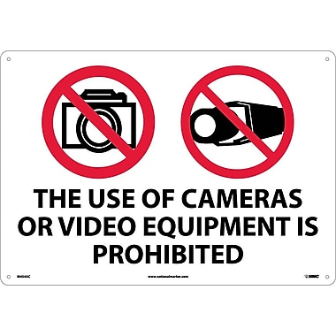 The Use Of Cameras Or Video Equipment Is Prohibited, 14X20, .040 Aluminum