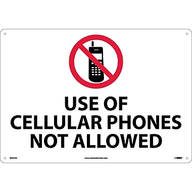 Use Of Cellular Phones Not Allowed, 14X20, .040 Aluminum