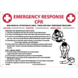 Cpr Emergency Response, 10X14, Rigid Plastic