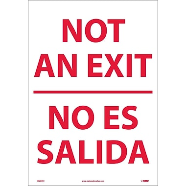 Not An Exit Bilingual, 20X14, Adhesive Vinyl
