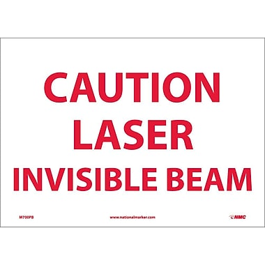 Caution Laser Invisible Beam, 10