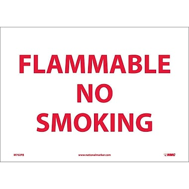 Flammable No Smoking, 10X14, Adhesive Vinyl