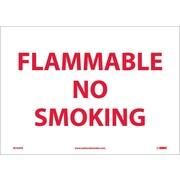 Flammable No Smoking, 10X14, Adhesive Vinyl