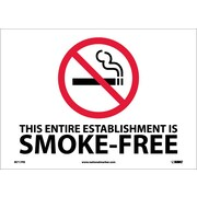 (Graphic) This Entire Establishment Is Smoke-Free Minnesota Statue 144.411 - 144.417, 10X14, Adhesive Vinyl