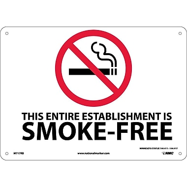 Graphic This Entire Establishment Is Smoke-Free Minnesota Statue 144.411-144.417