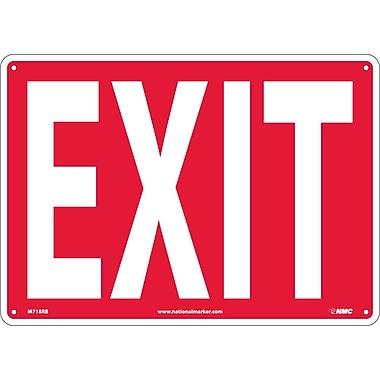 Exit 10X14, Rigid Plastic