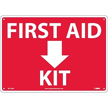 First Aid (Arrow) Kit, 10X14, .040 Aluminum