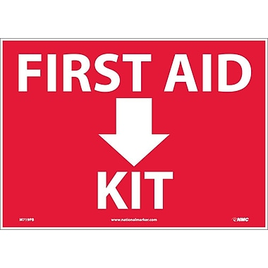 First Aid (Arrow) Kit, 10X14, Adhesive Vinyl