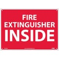 Fire Extinguisher Inside, 10X14, .040 Aluminum