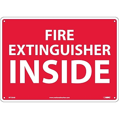 Fire Extinguisher Inside, 10X14, .040 Aluminum