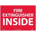Fire Extinguisher Inside, 10X14, Adhesive Vinyl
