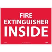 Fire Extinguisher Inside, 10X14, Adhesive Vinyl