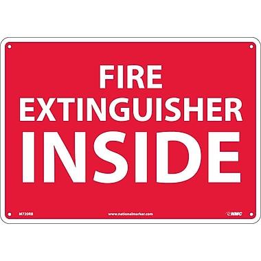 Fire Extinguisher Inside, 10X14, Rigid Plastic