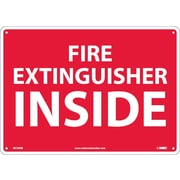 Fire Extinguisher Inside, 10X14, Rigid Plastic