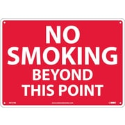 No Smoking Beyond This Point, 10X14, Rigid Plastic