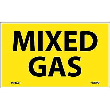 Labels -Mixed Gas, 3X5, Adhesive Vinyl, 5/Pk