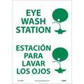 Eye Wash Station (Graphic), Bilingual, 14X10, Adhesive Vinyl